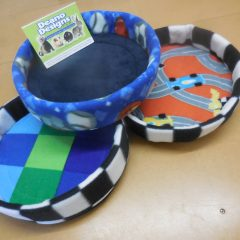 Round fleece bed 30cm, 50cm