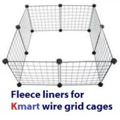 Fleece liners Kmart grid cages (NEW)